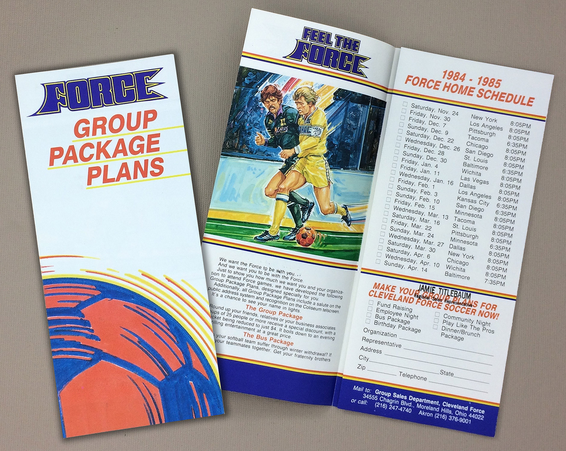 Cleveland Force 1984-85 Brochure