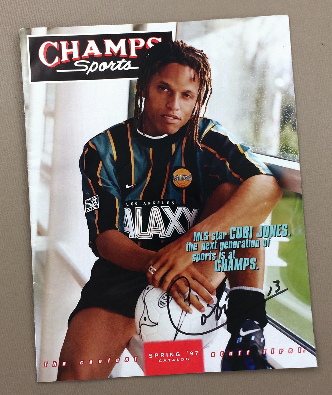 Autographed Cobi Jones Champs Catalog