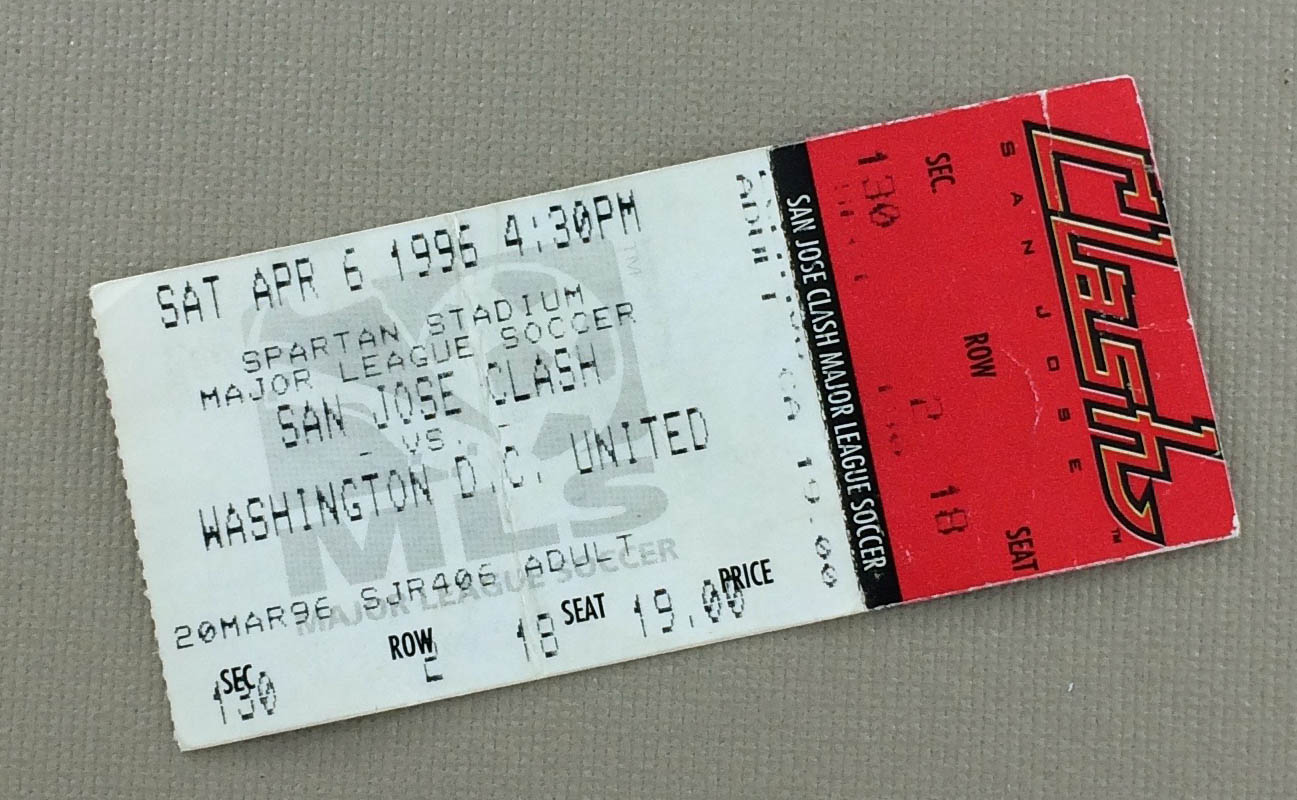 MLS Inaugural Game Ticket Stub