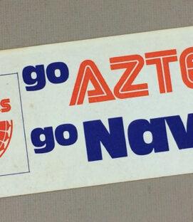 Los Angeles Aztecs 1976 Go Navy Bumper Sticker