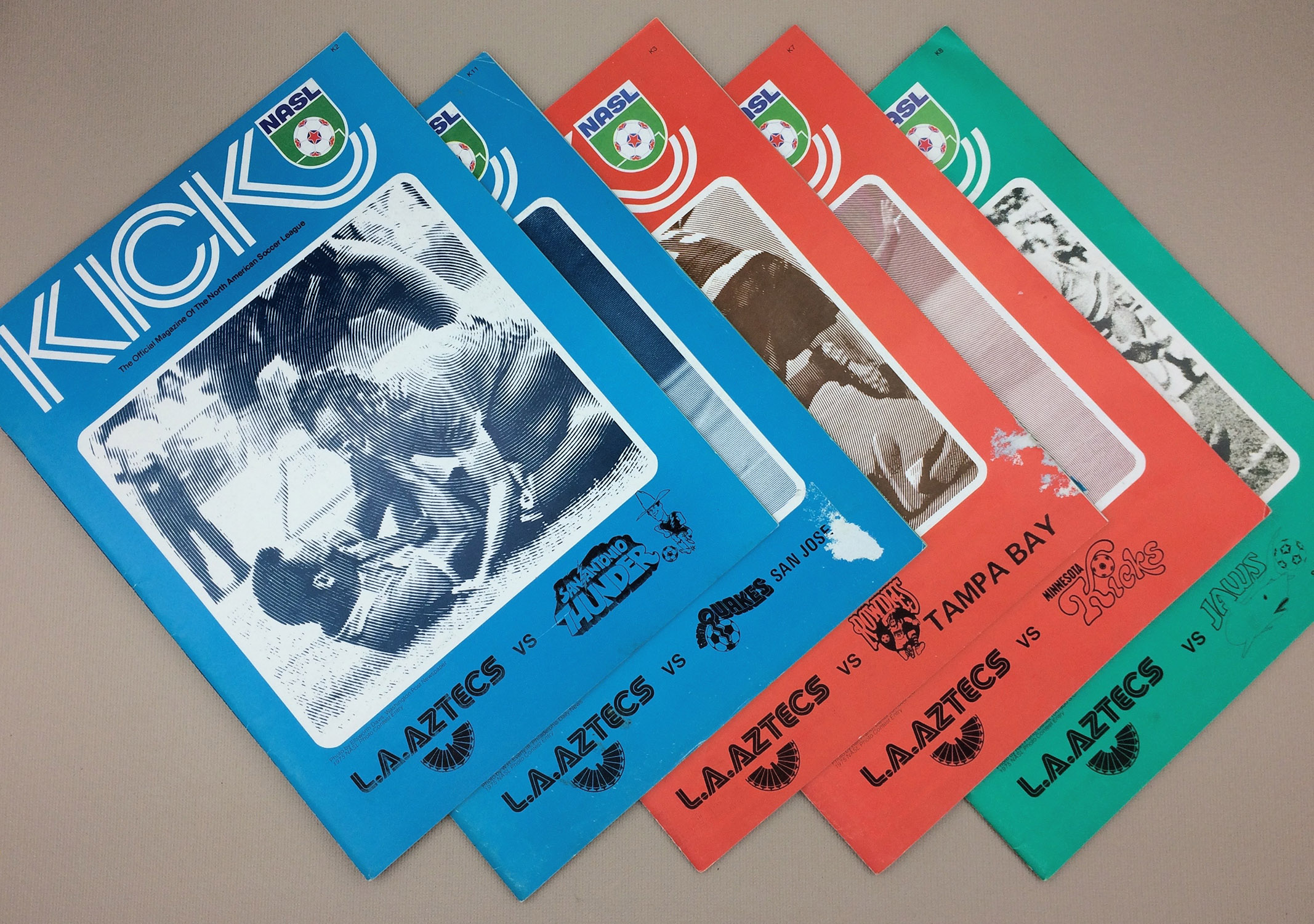 1976 Los Angeles Aztecs Game Program 5 Pack 1