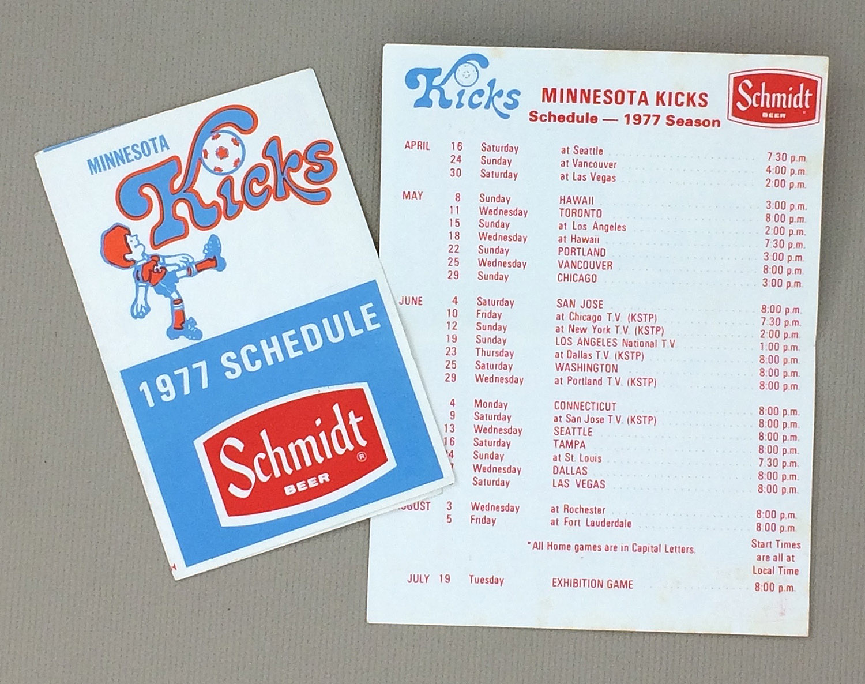 Minnesota Kicks 1977 Schedule