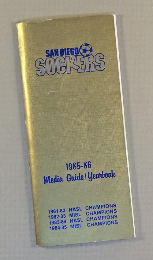 San Diego Sockers 1985-86 Media Guide