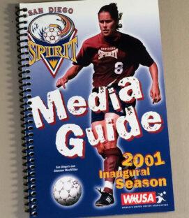 San Diego Spirit 2001 Media Guide