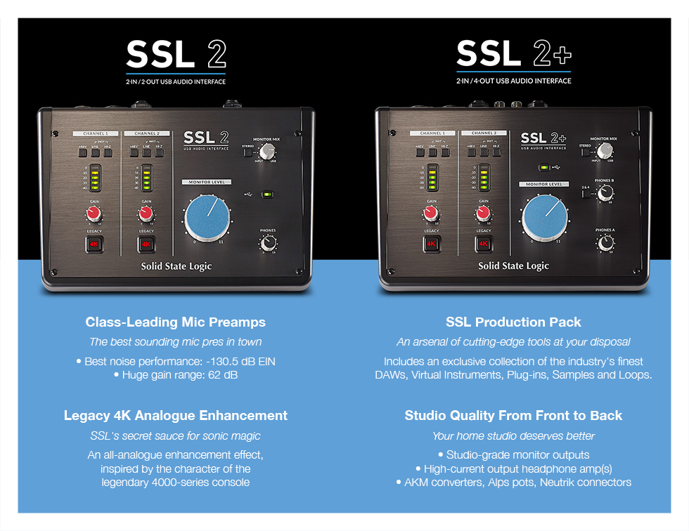 Solid State Logic SSL 2 / SSL 2+