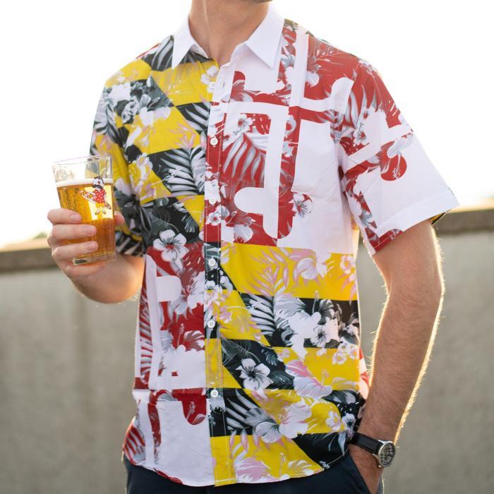 8c6efa62a Maryland Flag Floral / Hawaiian Shirt