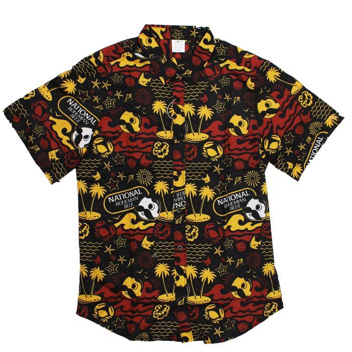 e6b0f64aef9 Natty Boh Beach Red   Gold (Black)   Hawaiian Shirt