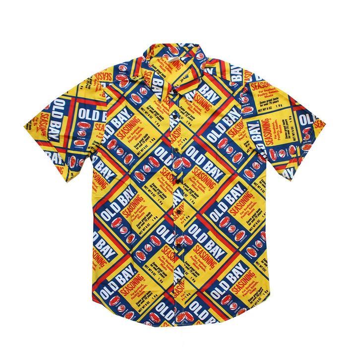 11903e12c Old Bay Can Pattern / Hawaiian Shirt