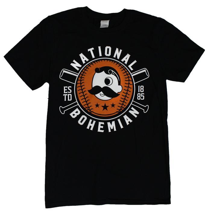 e129e3156 National Bohemian Baseball & Bat (Black) / Shirt