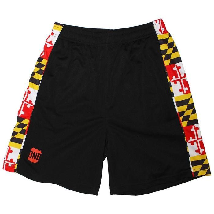 6059ba1b7e Maryland Flag (Black) / *Youth* Running Shorts (Boys). Comfortable shorts