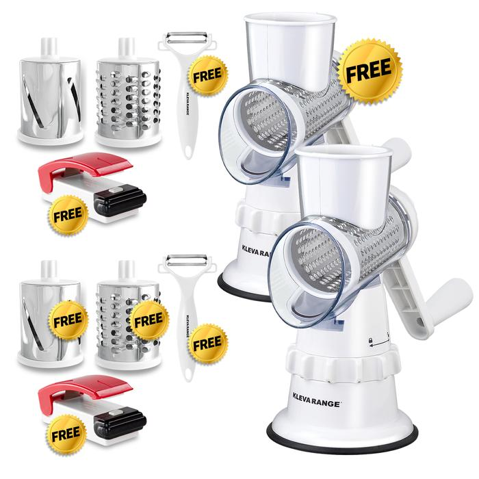 Buy 1 GET 1 FREE Kleva Sumo Slicer - Slice, Grate and Shred in Seconds PLUS 2 FREE Bag Sealers!