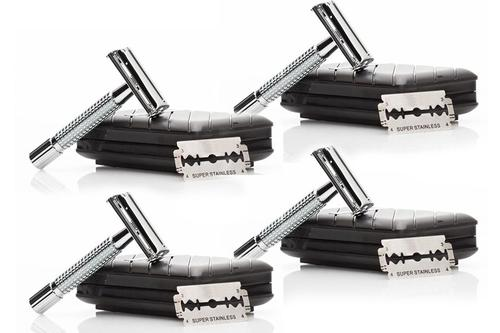 Sympler Safety Razors, BUY 1GET 3 FREE + 120 FREE BLADES + 4 FREE TRAVEL CASES