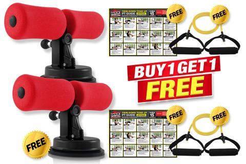 Trim Down + Tone Up With Quick Crunch BUY 1 Get 1 FREE! PLUS 2 FREE Resistance Bands + PT Guides!