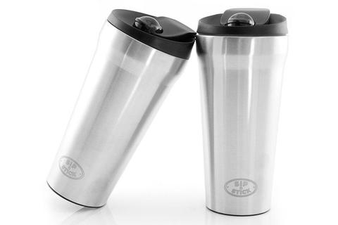 NO MORE SPILT DRINKS! Kleva Sip N' Stick Thermal Travel Mug Buy 1 Get 1 FREE!