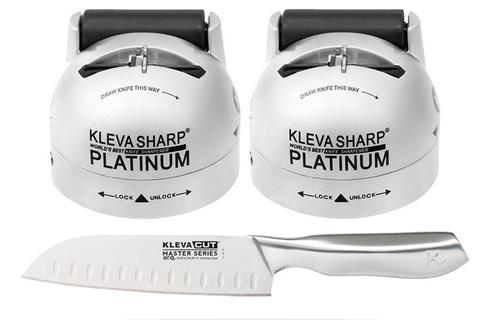 Our Best Knife Sharpener Yet! Double Offer! FREE $69.95 Santoku Knife