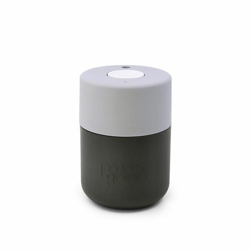 FRANK GREEN  Original Insulated Coffee Cup 8oz / 230ml  - Titanium / Harbour Mist / Coconut Milk