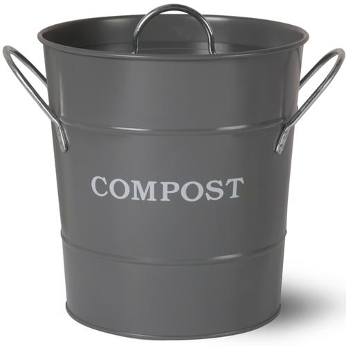 HEAVEN IN EARTH | Metal Compost Bucket - Charcoal