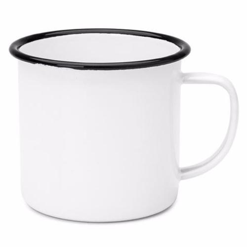 FALCON ENAMELWARE | 350ml Mug - White with Black Rim