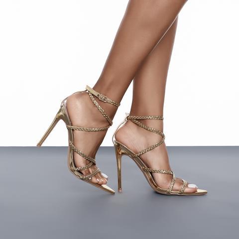 Angela Single Sole Heel (Gold)