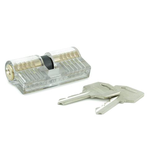 Clear Double-Sided Training Lock - Single Pin Picking Practice
