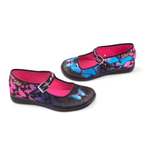 uk availability b6f2f c9b52 Chocolaticas® Dark Butterfly Women s Mary Jane Flat. Awesome shoes