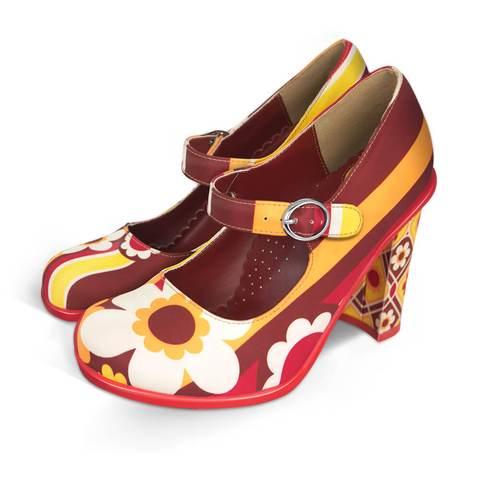 Chocolaticas® High Heels Paint Women's Mary Jane Pump