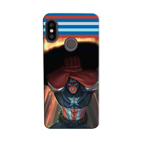 4b46420f1 Mangomask Xiaomi Mi A2 Mobile Phone Case Back Cover Custom Printed Designer  Series Captain America 03
