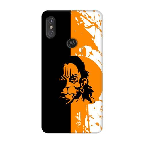 7eb05c01c Mangomask Motorola One Power Mobile Phone Case Back Cover Custom Printed  Designer Series Hanuman Black