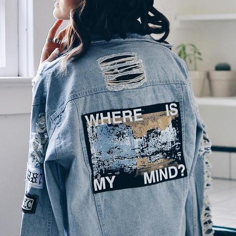 """WHERE IS MY MIND"" DENIM JACKET"