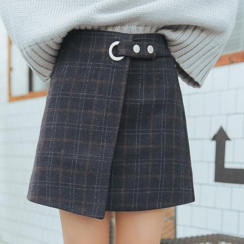 """""""PLAID BELTED"""" SKIRTS"""