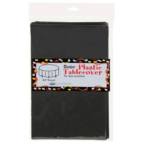 """Round Table Cover, 84""""- Black"""