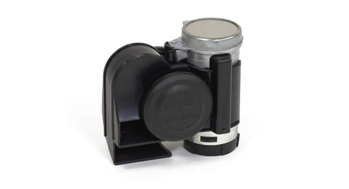 Black Compact Motorcycle Electric Air Horn