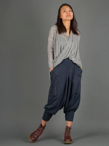 Sarouel coton style jean - Bleu marine