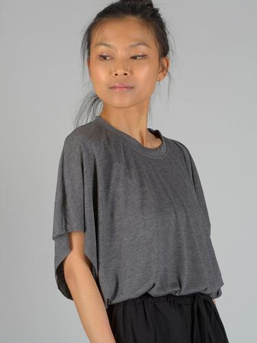 T-shirt oversize retravaillé - Gris foncé