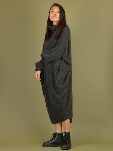Robe oversize cocon col haut