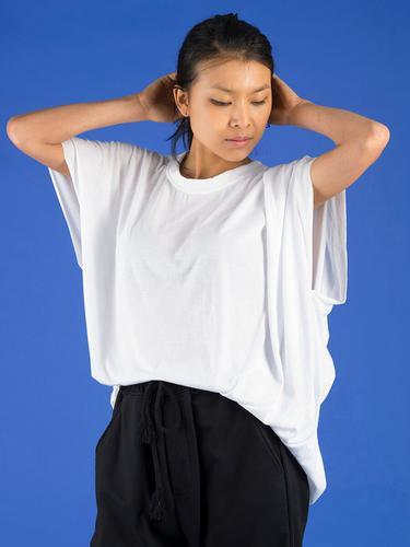 T-shirt oversize retravaillé - Blanc