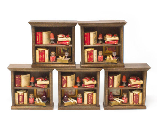 Miniature Wooden Bookcase - 2 Shelf