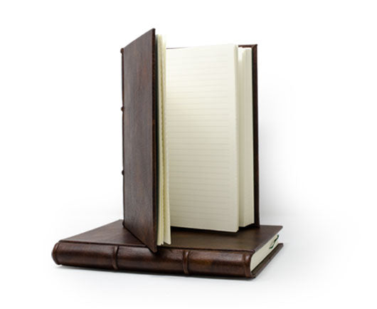 Classic Leather Journal With Lined-Ruled Pages Featuring Deckled Edges