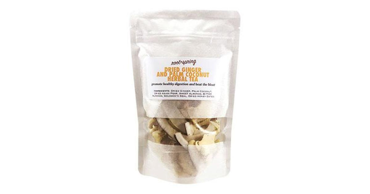 "Dried Ginger & Palm Coconut ""Beat the Bloat"" Herbal Tea"