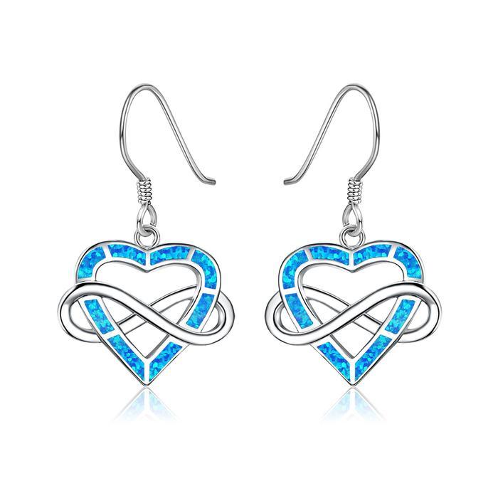 Infinite Opal Heart Earrings