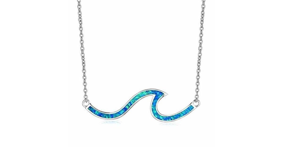 Paradise Blue Wave Necklace