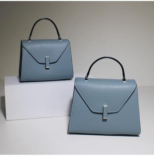 40d91dea57124 Women's Fashion Light Blue Leather Handbag Shoulder Bag Cross Body Bag  Satchel Purse MY02