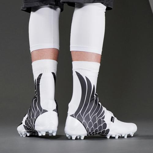 ca0ec804c Icarus White Black Spats   Cleat Covers