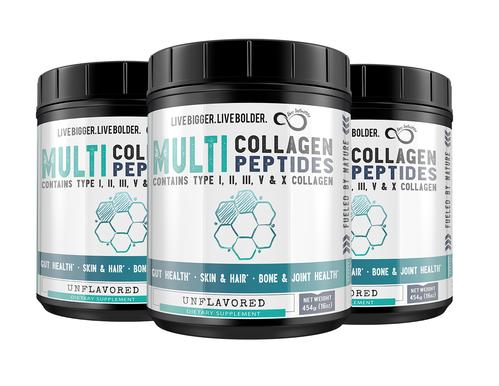 Free Bottle With 3 Month Supply Multi Collagen Protein Powder Type I, II, II, V & X Collagen Subscription