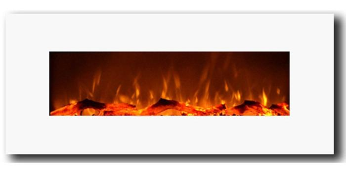 """Ivory 80002 50"""" Wall Mounted Electric Fireplace"""