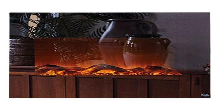 """Mirror Onyx 80008 50"""" Wall Mounted Electric Fireplace"""