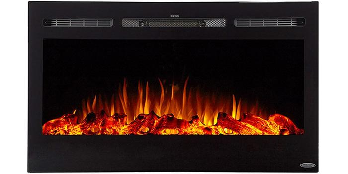 """Sideline 36 80014 36"""" Recessed Electric Fireplace"""