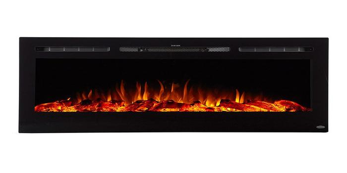 """Sideline 72 80015 72"""" Recessed Electric Fireplace"""
