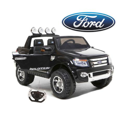 Ford Ranger Pickup Truck Black 12v Kids Ride-On Car + Remote