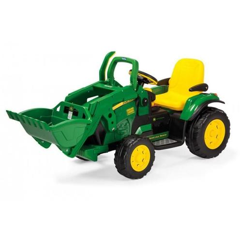 John Deere Ground Loader 12v Kids Ride On Tractor Digger With Scoop